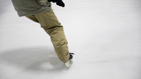 Ice hockey stop 1-1 Footage