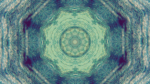 Kaleidoscope ornamental psychedelic fashionable iridescent background Footage