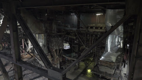 Power plant. inside view of the combined heat and power... Stock Video Footage