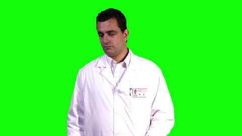 Young Scientist Retina Check Touchscreen Greenscreen 2 Stock Video Footage