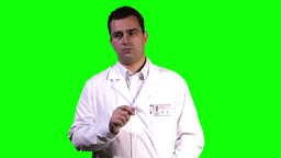 Young Scientist Touchscreen Greenscreen 1 Stock Video Footage