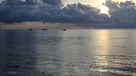 sunset boating Stock Video Footage