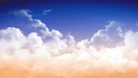 heart in sky clouds HD Stock Video Footage