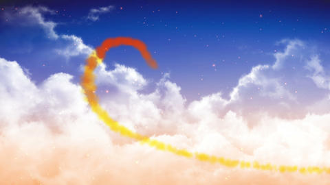 heart in sky clouds HD Animation