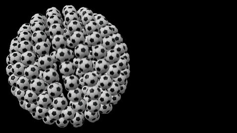Soccer ball, loop seamless, animation Stock Video Footage
