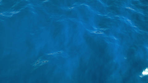 Ocean: blue water ripples and waves with slow motion Stock Video Footage