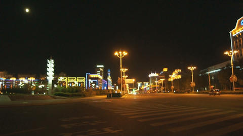 Night City Heihe View Tongjianglu 01 Stock Video Footage