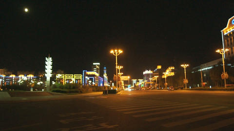 Night City Heihe View Tongjianglu 01 Stock Video Footage