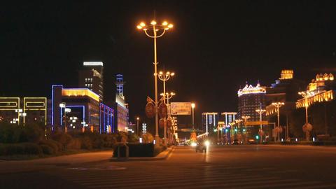 Night City Heihe View Tongjianglu 03 Stock Video Footage