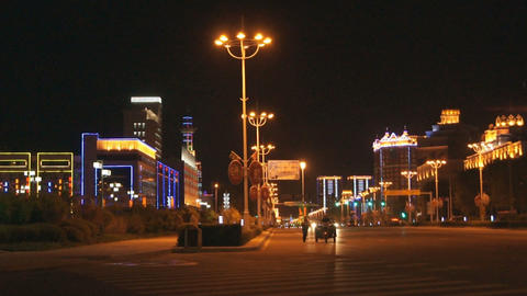 Night City Heihe View Tongjianglu 03 Stock Video Footage