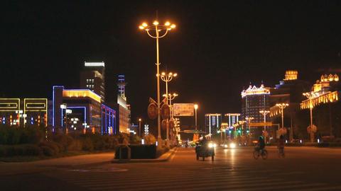 Night City Heihe View Tongjianglu 03 Footage