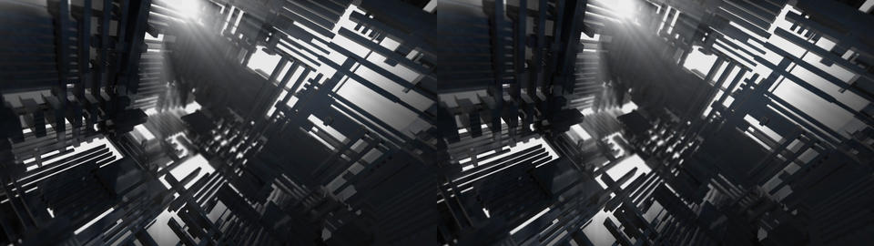 Volume Light Structure Stereo 3D Animation