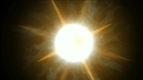 golden energy rays laser & vortex hole in universe Stock Video Footage