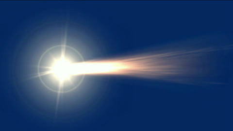 meteor with fireball flying in space Stock Video Footage