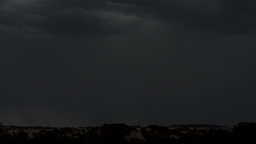 Flashes of Lightning Bolts over Australian Countryside Stock Video Footage