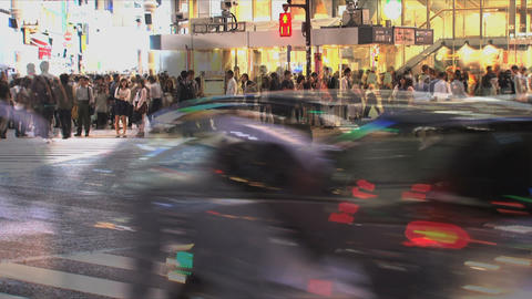 Shibuya Crossroad 02 Stock Video Footage