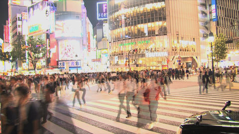 Shibuya Crossroad 04 Stock Video Footage