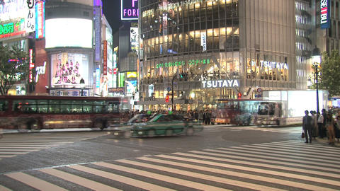 Shibuya Crossroad 06 Stock Video Footage
