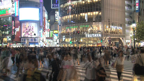 Shibuya Crossroad 06 Stock Video Footage