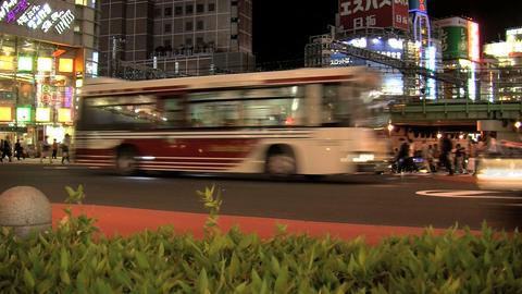 shinjuku traffic night slide Footage