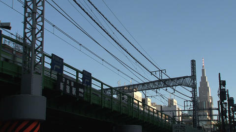 Shinjuku train Stock Video Footage