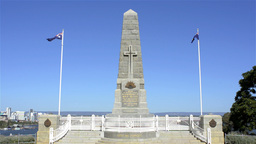 King's Park War Memorial in Perth, Australia Stock Video Footage