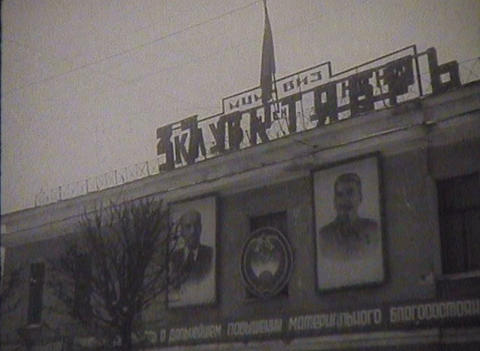 Newsreel, the people of the USSR, the city Stock Video Footage