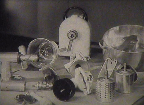 The old food processor Stock Video Footage