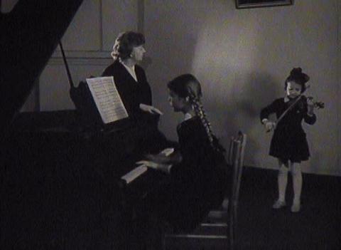 Music school. Newsreel Stock Video Footage