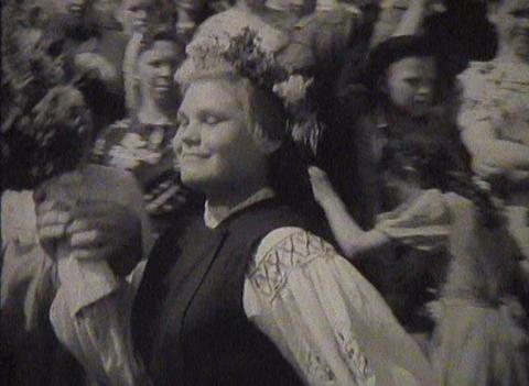 Newsreel Soviet Union, dances at the festival Stock Video Footage