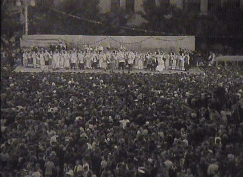 Newsreel Soviet Union, dances at the festival Stock Video Footage