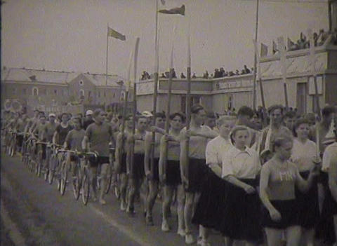 Physical training and sports in the USSR. Newsreel Footage
