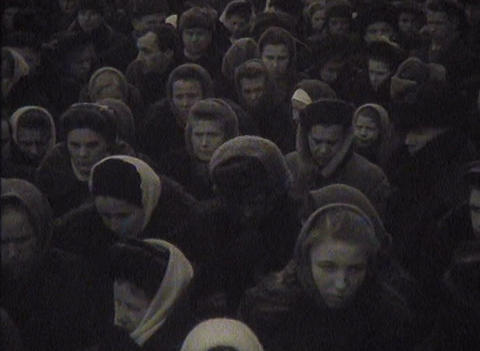 The funeral of Stalin in the USSR. Newsreel Stock Video Footage