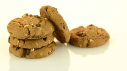 Chocolate chip cookies Stock Video Footage