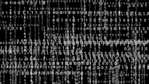 10861 internet binary data highway bw Stock Video Footage