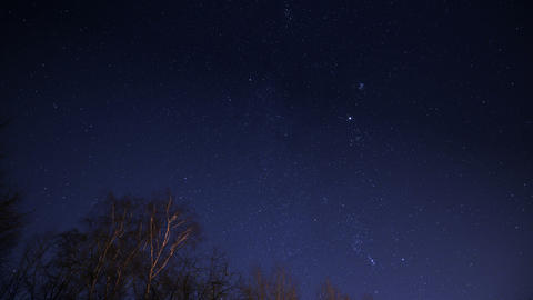 4k UHD night sky with stars time lapse 10862 Stock Video Footage