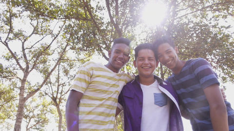 11-Slow Motion Multiethnic Group Of Teenagers Smiling Footage