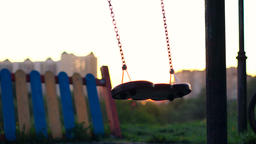 Lonely swing set Footage