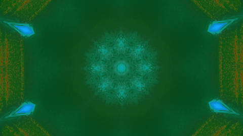 Motion graphic mandala sci-fi dreamy glittering background Footage