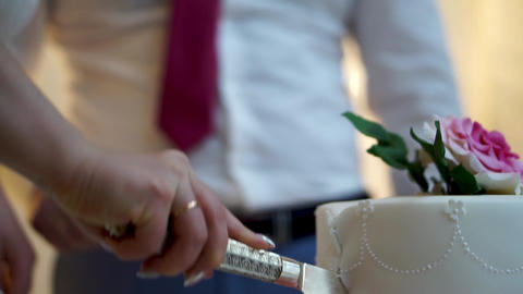 [alt video] Cutting the wedding cake