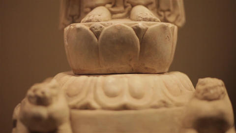 XI'AN China-May 30 2012: Chinese ancient cultural relic display in Shaanxi Footage