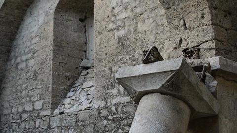 Old Ruined Church Interior.creepy Ruins Live Action