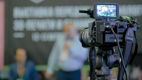 Video camera recording seminar Archivo