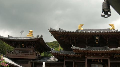 Chi Lin Nunnery Temple At Hong Kong Footage