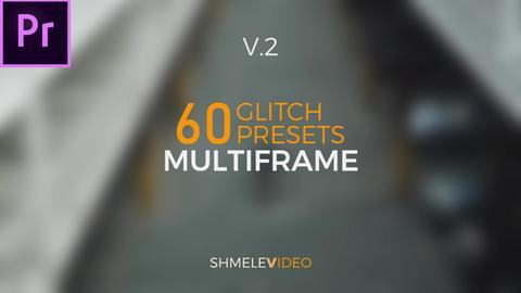 Multiframe Glitch Presets V.2 Premiere Pro Template