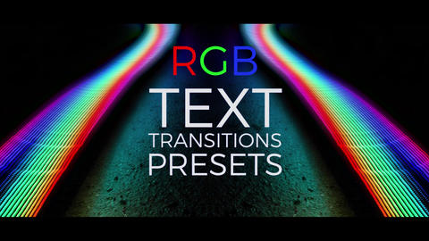 RGB Text Transitions Presets V.1 Premiere Pro Template