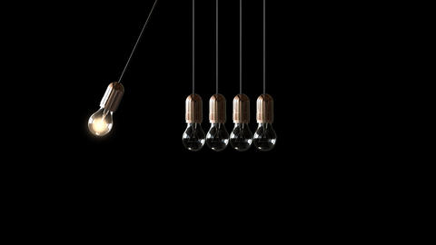 Bulb Newton's cradle GIF
