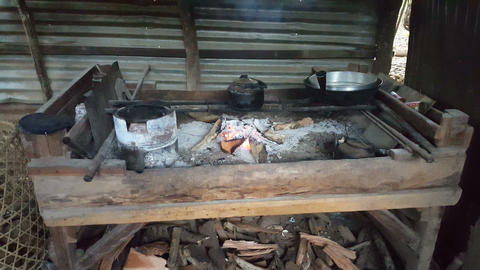 Kitchen in a local Filipino cabin Live Action