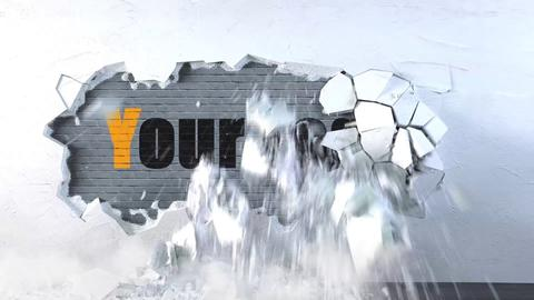 Wall Destruction Logo After Effects Template
