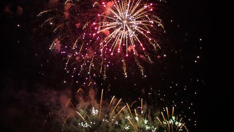 Colorful celebration fireworks exploding background Footage